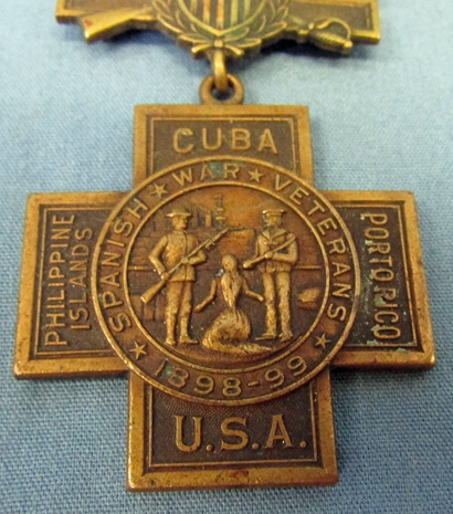 15. Historic Spanish American War medal.
