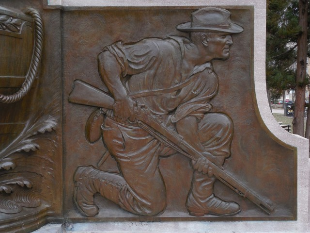 17. Spanish American War Monument, Evelyn Beatrice Longman, 1926, Hartford, CT. Proper left relief sculpture after treatment.
