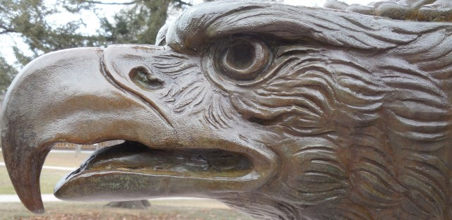 2.5 Spanish American War Monument, Evelyn Longman, 1926, Hartford, CT. Eagle  detail after treatment.